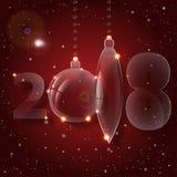 圣诞节球装饰品 庆祝前夕新年度 库存图片