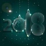 圣诞节球装饰品 庆祝前夕新年度 图库摄影