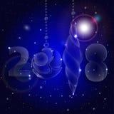 圣诞节球装饰品 庆祝前夕新年度 免版税库存照片