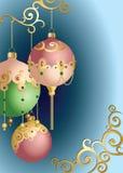 圣诞节球装饰品 免版税图库摄影