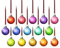 圣诞节球装饰品 免版税库存照片