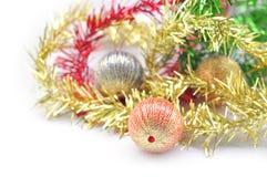 圣诞节球装饰 免版税库存图片