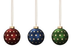 圣诞节球设置了12 皇族释放例证