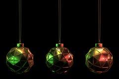 圣诞节球设置了20 皇族释放例证