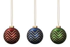 圣诞节球设置了13 皇族释放例证