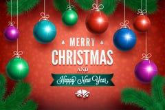 圣诞节球集合01 免版税库存照片