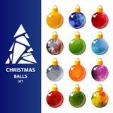圣诞节球集合8 向量例证
