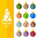 圣诞节球集合9 向量例证
