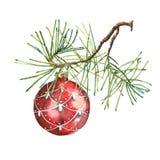 圣诞节球 库存例证