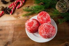 圣诞节甜点酥皮点心 免版税库存照片