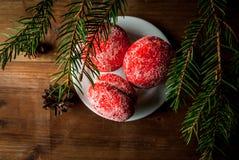 圣诞节甜点酥皮点心 库存照片