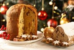 圣诞节甜点食物 库存照片