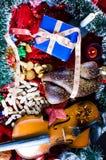 圣诞节生活仍然反对 库存图片