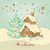 圣诞节田园诗卡片 向量例证