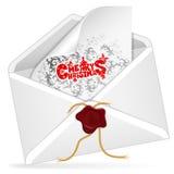 圣诞节电子邮件 库存图片