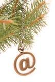 圣诞节电子邮件 免版税库存图片