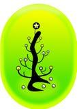 圣诞节电灯泡结构树 免版税库存照片