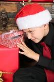 圣诞节男孩 免版税库存图片