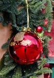 圣诞节界面玩具墙壁 免版税库存照片