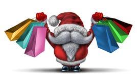 圣诞节疯狂购物 库存图片