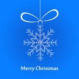圣诞节白色雪花 免版税图库摄影
