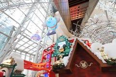 圣诞节的一旺角购物中心 免版税库存照片