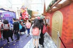 圣诞节的一旺角购物中心 库存照片