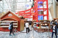 圣诞节的一旺角购物中心 免版税库存图片