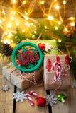 圣诞节的一点礼物 库存照片