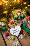 圣诞节的一点礼物 库存图片