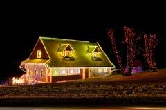 圣诞节的之家 库存照片