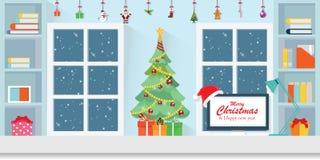 圣诞节的内部工作场所 库存图片