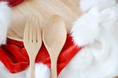 圣诞节的准备好膳食 库存照片