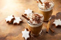圣诞节的咖啡震动 免版税库存照片