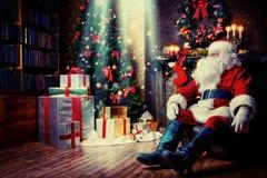 圣诞节的夜 库存照片
