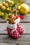 圣诞节的姜饼人 免版税库存照片