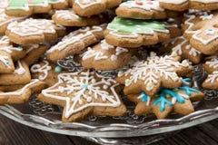 圣诞节的姜饼 图库摄影