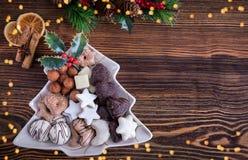圣诞节的德国圣诞节曲奇饼 免版税库存照片