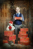 圣诞节的愉快的男孩 库存图片