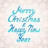 圣诞节的手拉的贺卡 免版税库存图片