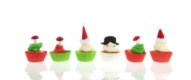 圣诞节的杯形蛋糕 库存图片