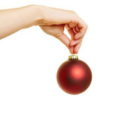 圣诞节的红色圣诞树球 免版税库存图片