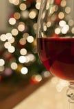 圣诞节的红葡萄酒 免版税库存照片