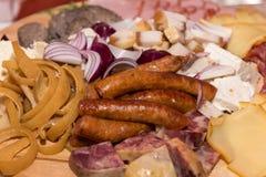圣诞节的罗马尼亚传统食物 免版税图库摄影