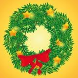 圣诞节的美丽的假日花圈 库存照片