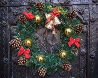 圣诞节的花圈 库存照片
