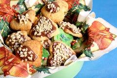 圣诞节的被烘烤的曲奇饼 免版税库存图片