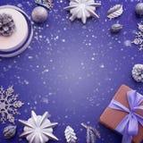 圣诞节的装饰的装饰构成 库存图片