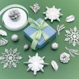 圣诞节的装饰的装饰构成 库存照片