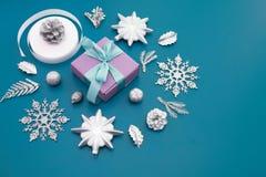 圣诞节的装饰的装饰构成 图库摄影